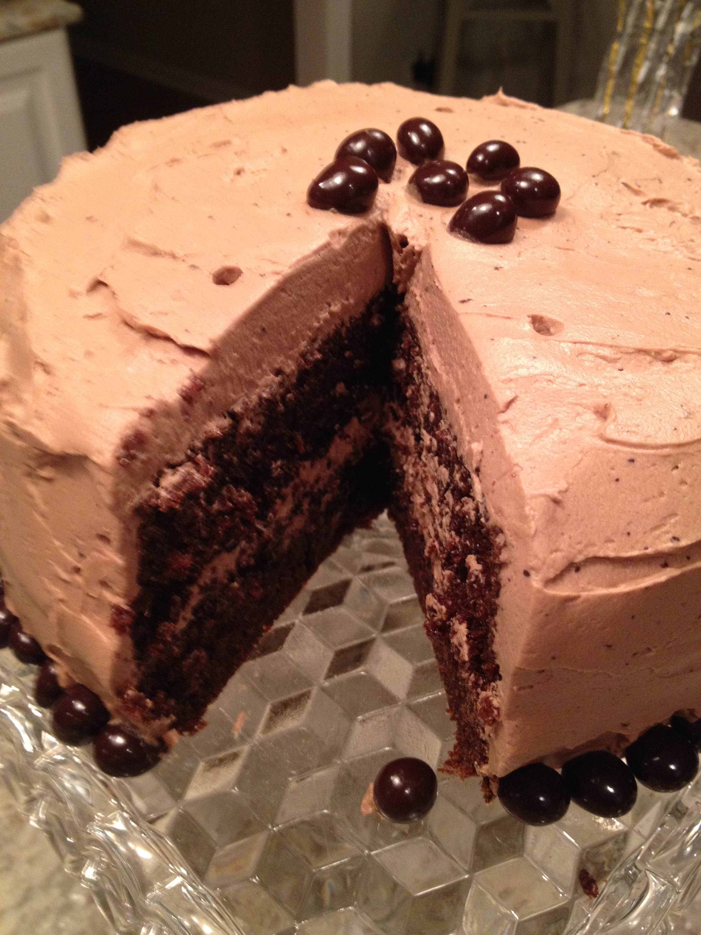 Coffee-Chocolate Layer Cake With Mocha-Mascarpone Frosting ...