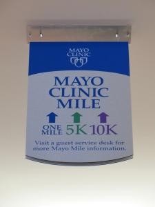 Mayo Clinic Mile Marker